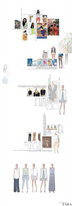Fashion Portfolio - fashion design board; fashion illustration; layout; fashion sketchbook // Hannah Voong