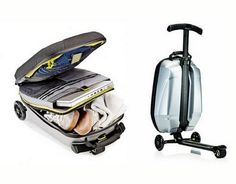 Micro Luggage Scooter - This is SO cool - you can really scoot on this thing.  When I have walked a million miles in some airport, this would have been so much easier!