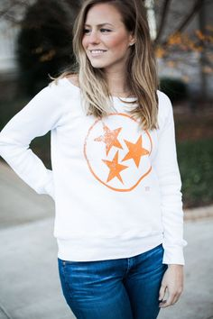 White Tristar Bella Sweatshirt University of Tennessee  Game day apparel for women Volunteers