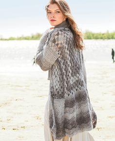 crochelinhasagulhas: Casaco cinza em crochê