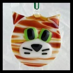 Fused Glass Cat Ornaments - Bing images