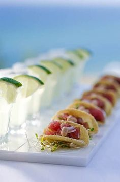 What's a mini fish taco without a mini margarita and a wedge of lime? Olé! / Cinco de Mayo/ Fiesta