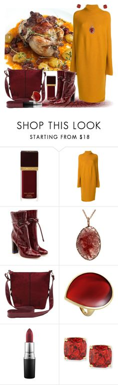 """""""Autumn Delicacy ... Roasted Quail"""" by krusie ❤ liked on Polyvore featuring Tom Ford, Christian Wijnants, Malone Souliers, M&Co, Ippolita, MAC Cosmetics and Kate Spade"""