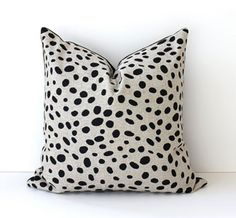 Black & Tan Spotted Pillow Cover