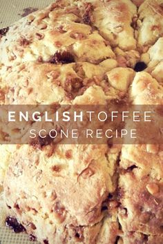 English Toffee Scones Inspired By Downton Abby.