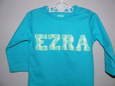 Name Tee. Ezra.