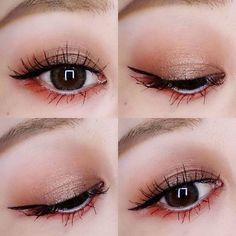 Ideas Eye Makeup Bright Colors Make Up For 2019 Chinese Makeup, Korean Makeup Look, Korean Makeup Tips, Asian Eye Makeup, Korean Makeup Tutorials, Eye Makeup Steps, Eye Makeup Art, Japanese Makeup, Smokey Eye Makeup