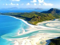 photo: Aerial shot of Whitehaven Beach, Whitsunday Island off Queensland, Australia (© imagebroker) White Haven Beach, White Sand Beach, Most Beautiful Beaches, Beautiful Places To Visit, Amazing Places, Need A Vacation, Dream Vacations, Vacation Ideas, Whitehaven Beach Australia