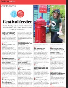 An article published when we were only 2 events into our first ever season! All about starting up our business and a day in the life of Hannah. We were so proud to be titled 'One to Watch'. Little did we know only 18 months after this article we would win Best Street Food in Devon at the Food & Drink Devon Awards