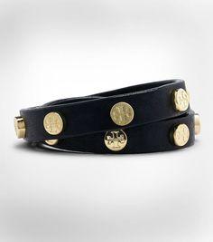Double Wrap Stud Logo Bracelet