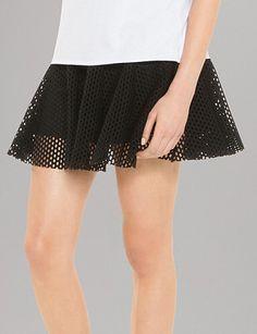 SANDRO Mesh Mini Skirt