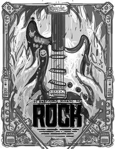 Ilustración cartel de la roca