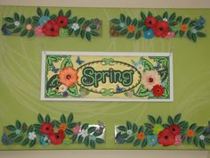 Various floral panels creating out of paper come together to create this bright spring decor for a non-profit organization.