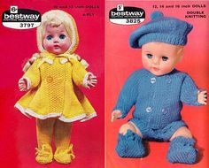 Items similar to PDF Vintage Boy & Girl TWIN Baby Dolls Clothes Premature Baby 2 Knitting Patterns Duo Bestway 3797 3825 Rose Bud Tiny Tears on Etsy Baby Doll Clothes, Doll Clothes Patterns, Clothing Patterns, Easy Knitting, Knitting Patterns, Crochet Patterns, Crochet Baby, Knit Crochet, Small Baby Dolls