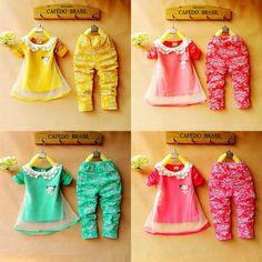 Ücretsiz ve gemi retail moda dantel yaka şifon çiçek sarı, yeşil, pembe, Uzun kollu kız çocuk setleri 2-5 Yıl pamuk Uyuyor gül $14.50