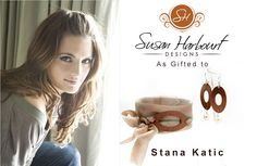 Copper Oval and Freshwater Pearl as gifted to Stana Katic of Castle