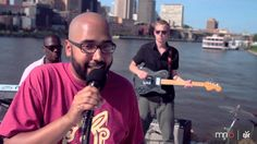"Heiruspecs perform ""The Pushback"" on board a Padelford Riverboat as they cruise down the Mississippi River."