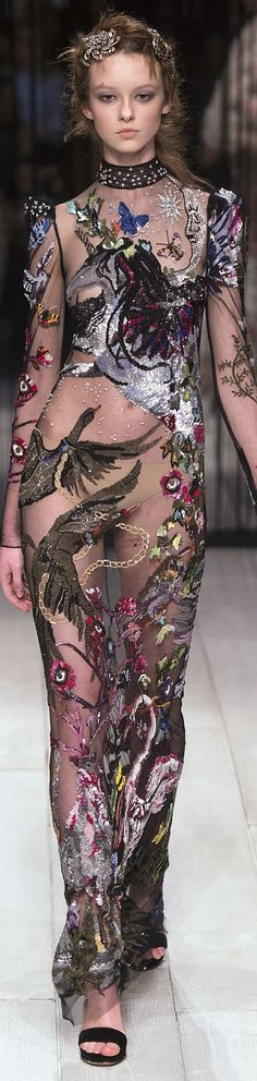 Alexander McQueen fall 2016 RTW vogue<<Maybe a little more coverage on some parts, but very cool.