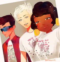 Steven universe the cool kids in t shirts.