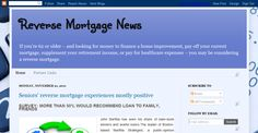 If you're 62 or older – and looking for money to finance a home improvement, pay off your current mortgage, supplement your retirement income, or pay for healthcare expenses – you may be considering a reverse mortgage. http://reversemn.blogspot.com/