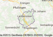 Map of lichtenstein reutlingen baden wurttemberg germany