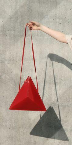 Triangle Bag by IF irinaflorea | minimalist design | https://www.facebook.com/irinafloreadesign/