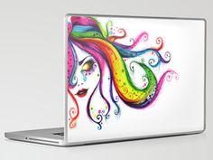 Rainbow Tears Laptop & iPad Skin by Michelle Curiel - $30.00
