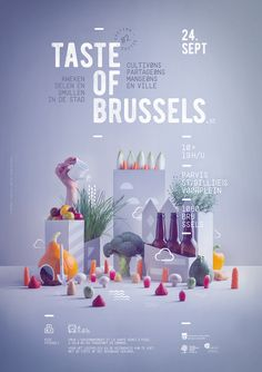 Taste of Brussels is an event that promotes urban agriculture and food autonomy . - best ideas and inspiration - Dıy Easy Game Design, Food Poster Design, Event Poster Design, Poster Design Inspiration, Graphic Design Posters, Layout Design, Web Inspiration, Poster Designs, Blog Design