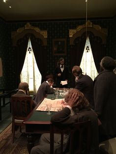 Lincoln and his cabinet during the war