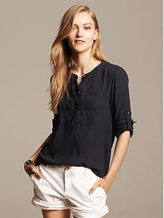 Riviera Blouse | Banana Republic