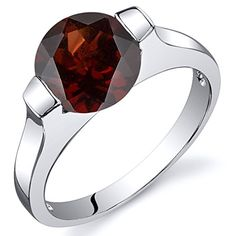 Promise Rings Simple | Bezel Set 250 carats Garnet Engagement Ring in Sterling Silver Rhodium Nickel Finish Size 9 * For more information, visit image link. Note:It is Affiliate Link to Amazon. #instamood