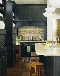 Upscale Kitchen Design | bhg #kitchen #dark cabinets #traditional kitchen