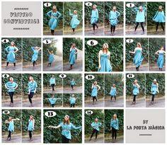 Robe/chandail convertible - patron: http://laportamagica.blogspot.com.es/2014/01/tutorial-como-hacer-el-convertible-dress.html