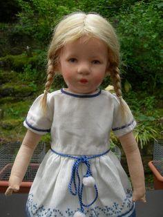 Antike alte Käthe Kathe Kruse Puppe Doll Mädchen kl. deut. Kind, ca 35cm