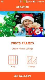 christmas photo frame 2016merry christmassanta gift photo text status editor