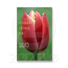 a touch of red for 2013 wall calendars