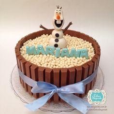 Bolo KitKat tema #frozen