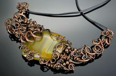 Necklace from copper with agate from SyudakStore on Storenvy