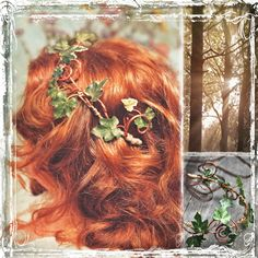 Romantic Ivy Head Wreath - Wedding Halo - Outdoor Weddings - Fall Summer Winter Spring - Woodland - Boho. $34.00, via Etsy.