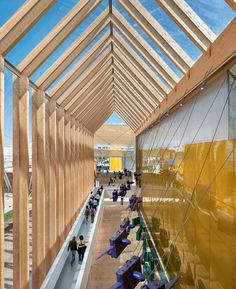 Spain Pavilion by Fermín Vazquez Arquitectos at Milan Expo Milan – Italy Expo Milano 2015, Expo 2015, B720, Bamboo Structure, Design Blog, Store Design, Wood Detail, Milan Italy, Design Furniture