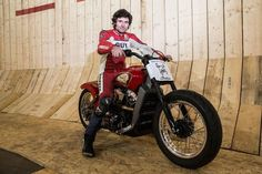 Guy Martin breaks Wall of Death speed record live on TV 78mph