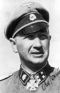 Otto Baum was awarded Knights Cross for his actions in Demjansk pocket.  He was a Sturmbannfuhrer in 3rd Waffen SS Totenkopf at Demjansk