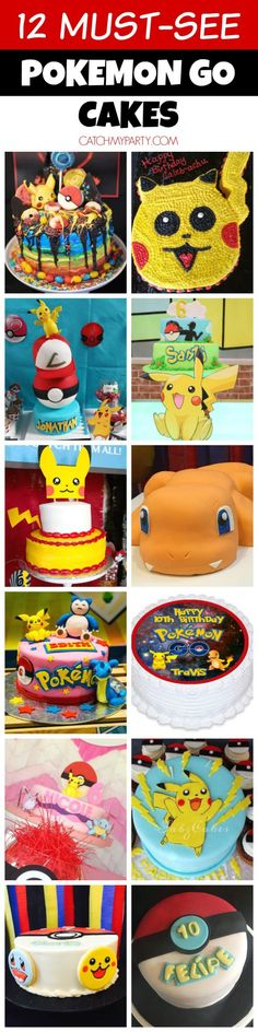 12 Must-See Pokemon Go Cakes | CatchMyParty.com