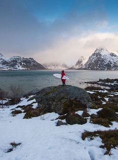 SURF IN THE ARTIC CIRCLE: Lofoten #Norway Arctic Surfing Northern Lights | #Travel | #Surfing