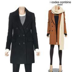[패션플러스][basic+ by codes][코데즈컴바인베이직] 여성 누빔 더블버튼 울 하프코트 (BVD-HC941W1)/코데즈베이직+,울코트,더블버튼코트,누빔코트 Ganji Fashion