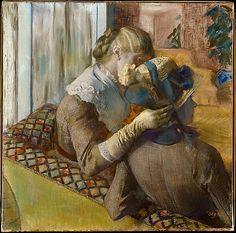 Edgar Degas (French, 1834–1917). At the Milliner's, 1881. The Metropolitan Museum of Art, New York. The Walter H. and Leonore Annenberg Collection, Gift of Walter H. and Leonore Annenberg, 1997, Bequest of Walter H. Annenberg, 2002 (1997.391.1) #paris