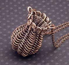 Twined Copper Basket Pendant by WiredElements.deviantart.com on @DeviantArt