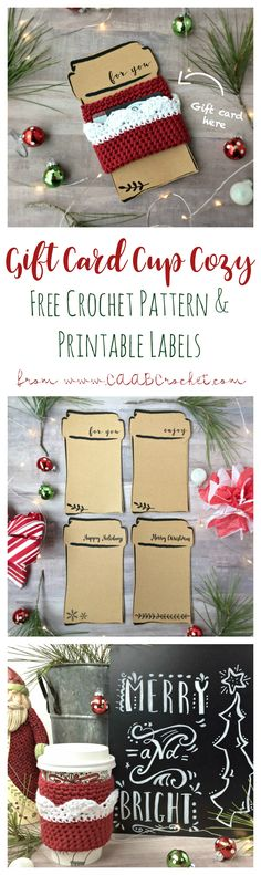 This project is the perfect combo gift. Pair your handmade gift with a generous gift card, all presented on a cute printable! Quick, easy and unique!