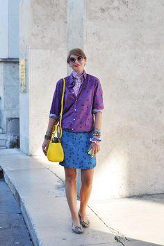 STREET STYLE — (via Elisa Nalin wearing Kitsune, Paris -...