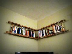 Great ideas for the home, including a book shelf made from an old wooden ladder... Awesome!